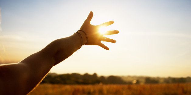 hand-sunset-humble-person