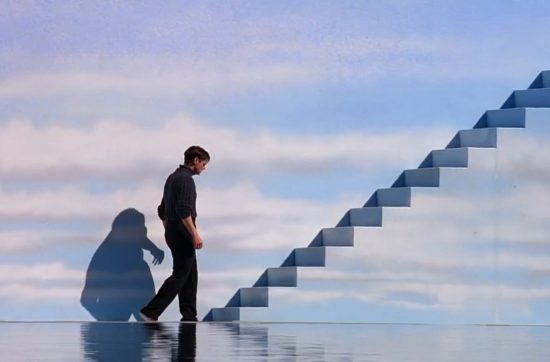 man-near-stairs